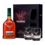 Kit Whisky The Dalmore Single Malt - 15 Anos - (Com 2 Copos e Embalagem Exclusiva) - 700 ml