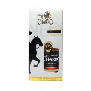 Kit Tequila El Charro Reposado 750 ml + 1 Copo