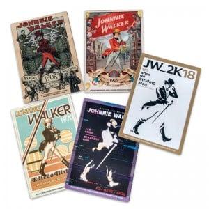 Cards Johnnie Walker 110 Anos Conjunto de 5 Unidades - Imãs