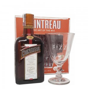 Kit Licor Cointreau 700 ml + Taça