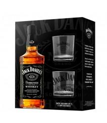 Kit Whisky Jack Daniels 1000 ml com 2 Copos