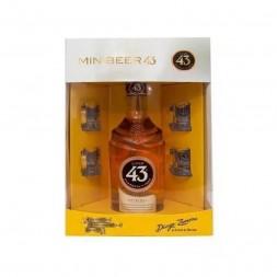 Licor 43 Diego Zamora 700 ml + 04 Mini Canecas