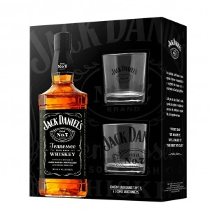 Kit Whisky Jack Daniels 1000 ml com 2 Copos