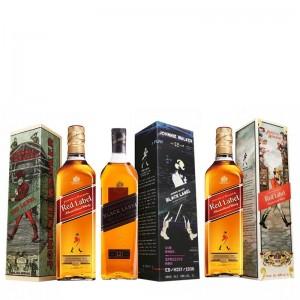 Kit Whisky Johnnie Walker Red Label Caixa 1908 1000 ml + Whisky Johnnie Walker Red Label Caixa 1929 1000 ml + Whisky Johnnie Walker Black Label Caixa 1996 1000 ml