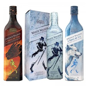 Kit Whisky Johnnie Walker Song Of Fire 750 ml + Whisky Johnnie Walker Game Of Thrones 750 ml + Whisky Johnnie Walker Song Of Ice 750 ml