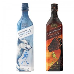 Kit Whisky Johnnie Walker Song Of Ice 750 ml + Whisky Johnnie Walker Song Of Fire 750 ml