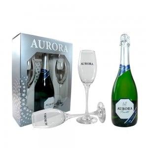 Kit Aurora Moscatel + 2 Taças 750 ml