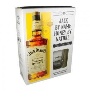 Kit Whisky Jack Daniel's Honey 1000 ml com Copo