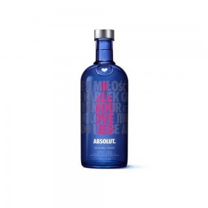 Vodka Absolut Drop Of Love 1000 ml Rosa