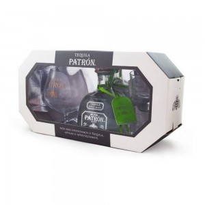 Kit Tequila Patron Silver 750 ml + 2 Copo+Taça