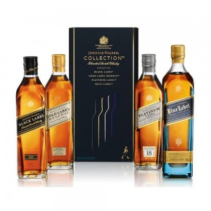 Kit Whisky Johnnie Walker Multi Collection 4 X 200 ml