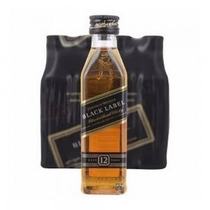 Whisky Johnnie Walker Black 12 Anos Miniatura 50 ml