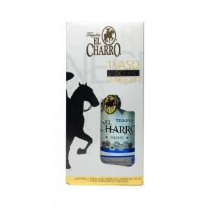 Kit Tequila El Charro Silver 750 ml + 1 Copo