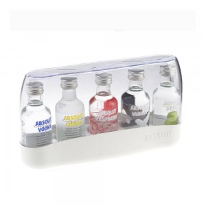 Kit Vodka Absolut 5 Mini 50 ml