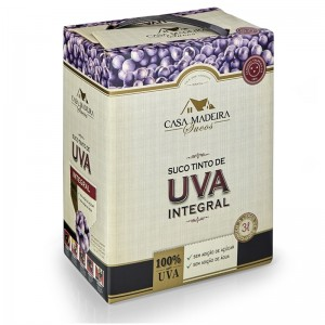 Suco Uva Casa Madeira Bag Box 3000 ml