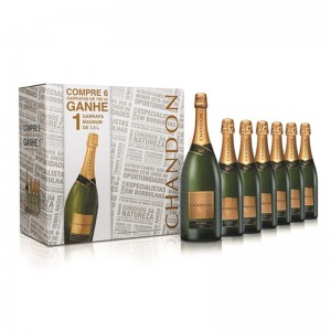 Kit Espumante Chandon 6 Garrafas 750 + 1 Chandon Magnun 1500 ml Grátis 750 ml