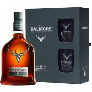 Kit Whisky The Dalmore Single Malt - 15 Anos - (Com 2 Copos e Embalagem Exclusiva) - 700 ml