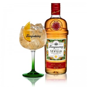 Gin Tanqueray Sevilla 700 ml + Taça Vidro Oficial 600 ml