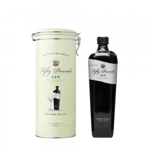 Gin Fifty Pounds 750 ml Lata Verde
