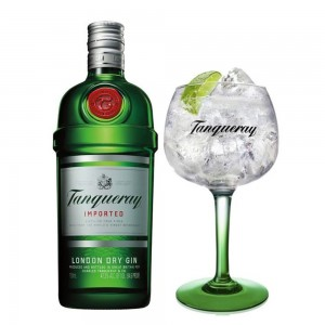 Kit Gin Tanqueray 750 ml + Taça Vidro Oficial 600 ml