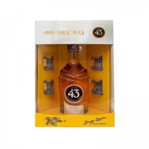 Licor 43 Diego Zamora 700 ml + 04 Mini Canecas