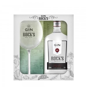 Kit Gin Rock S com Taça 995 ml
