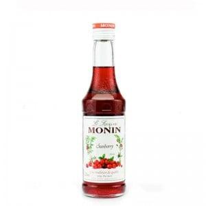 Xarope Monin Cranberry 250 ml