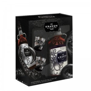 Rum Kraken 750 ml com Kit 2 Copos