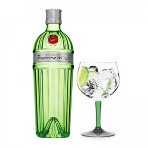 Gin Tanqueray Ten 750 ml + Taça Vidro Oficial 600 ml