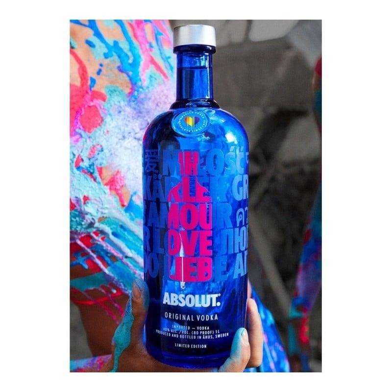 Vodka Absolut Drop Of Love 1000 ml Rosa